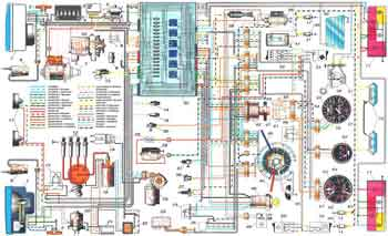 Wiring diagram of the car VAZ-2105